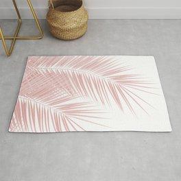 Blush Pink Palm Leaves Dream - Cali Summer Vibes #1 #tropical #decor #art #society6 Rug