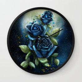 Night Roses Wall Clock