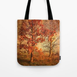 Textured Autumn Trees Tote Bag