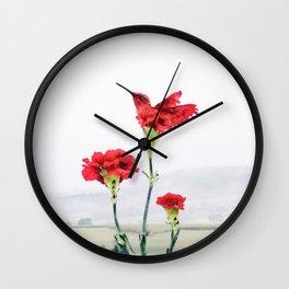 Carnation (r)evolution Wall Clock