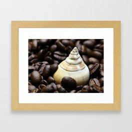 Coffee bean snail Framed Art Print