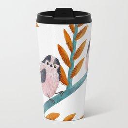 Happy Long-Tailed Tits Travel Mug