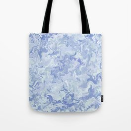 Light Denim Marble Tote Bag