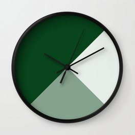 Trinity Color Block Forest Green 08441C Wall Clock