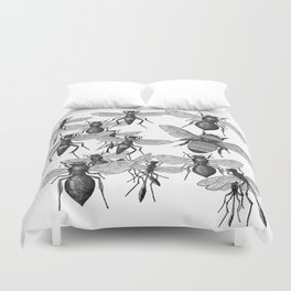 Bees and wasp Flying Duvet Cover