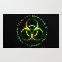 Biohazard Zombie Warning Rug