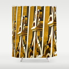 Parisian Golden Gates of the Palace of Versailles French Architecture Photograph Shower Curtain