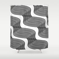 waves Shower Curtains featuring Waves by Norman Duenas