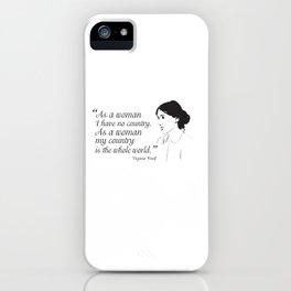 Virginia Woolf Feminist Quote iPhone Case