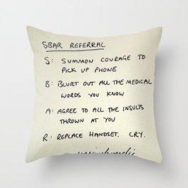 SBAR Throw Pillow