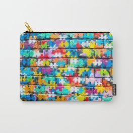 Rainbow Puzzle Carry-All Pouch
