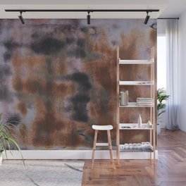 Copper and Iron abstract pattern Wall Mural
