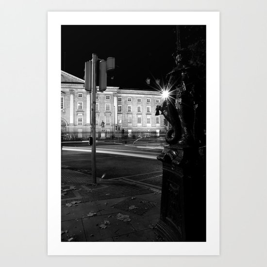 Stop. Light. [Black & White] Art Print