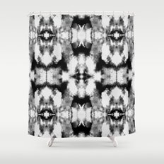 Tie Dye Blacks Shower Curtain