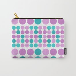 Pattern in pink blue polka dot. Carry-All Pouch