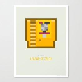 Legend of Zelda Cartridge Canvas Print