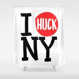 I Huck NY Shower Curtain