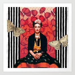 Frida enamorada Art Print