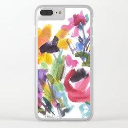 Wildflower Wild Clear iPhone Case