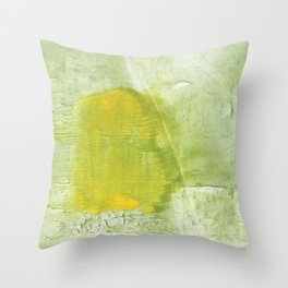 Green abstract aquarelle painting Throw Pillow