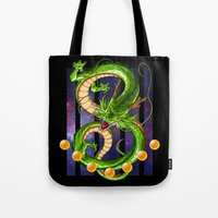 dragon ball Tote Bags featuring Dragon by TxzDesign