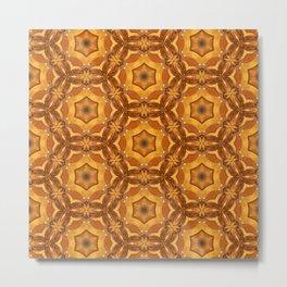 Tulip (kaleidoscope pattern) by Shiri Mor Metal Print