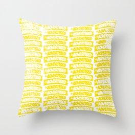 As Advertised - Yellow Throw Pillow