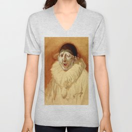 """The Grey Clown"" by Gustave Doré Unisex V-Neck"
