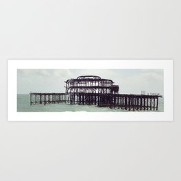 Brighton West Pier Panorama Art Print