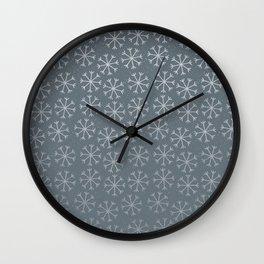 Winter Abstracts 19B Wall Clock