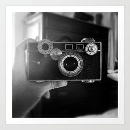 Camera Selfie Art Print