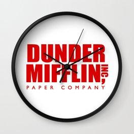 Dunder Mifflin Logo Wall Clock