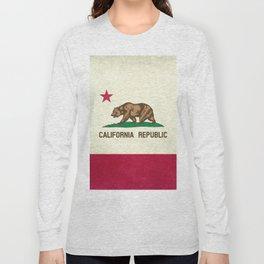 California Republic Flag Long Sleeve T-shirt
