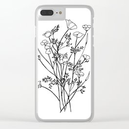 Cali Poppy Clear iPhone Case