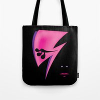 aladdin Tote Bags featuring Aladdin Sane by Inky Valentine