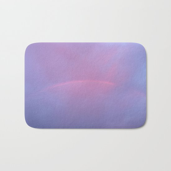 A Rainbow In A Sky Colored By The Sunset Bath Mat