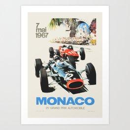 Formula 1 - 1967 Monaco Grand Prix Art Print