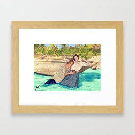 Claire&Jamie Framed Art Print