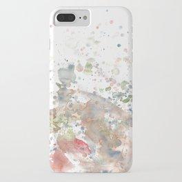 Splatter watercolor iPhone Case
