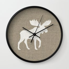 Moose Silhouette Wall Clock