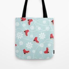 Winter Ice Skating Tote Bag
