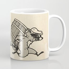 THE  WHISKEY SMUGGLER - vintage cartoon 80's Coffee Mug