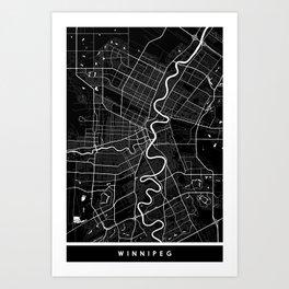 Winnipeg - Minimalist City Map Art Print