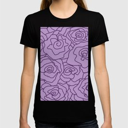 Lavender Dreams Roses - Light with Dark Outline - Color Therapy T-shirt