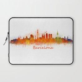 Barcelona City Skyline Hq _v3 Laptop Sleeve