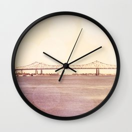 Greater New Orleans Bridge over the Mississippi Wall Clock