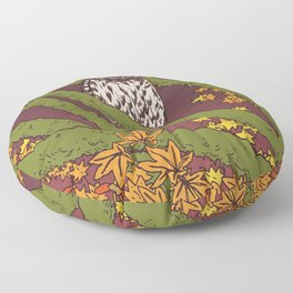 Barred Owl & Maple Floor Pillow