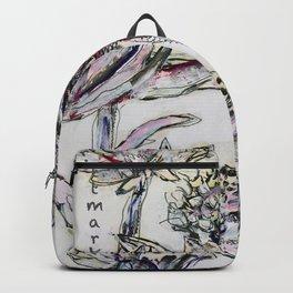 Bluehte/Genaeht/brittmarks3 Backpack