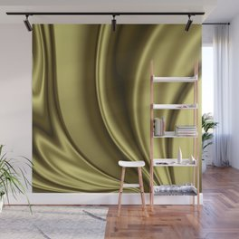 Abstract Fractal Colorways 02 Simple Gold Wall Mural