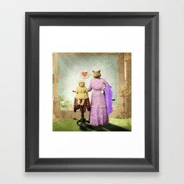 Momma Kitty Loves Her Kitten Framed Art Print
